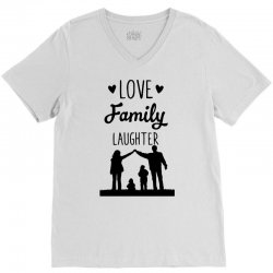love family laughter V-Neck Tee | Artistshot