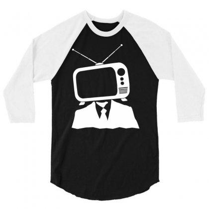 Tv Head 3/4 Sleeve Shirt Designed By Marla_arts