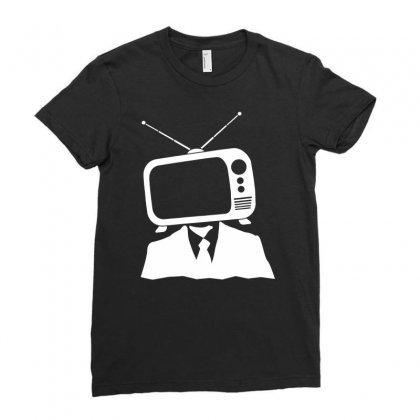 Tv Head Ladies Fitted T-shirt Designed By Marla_arts