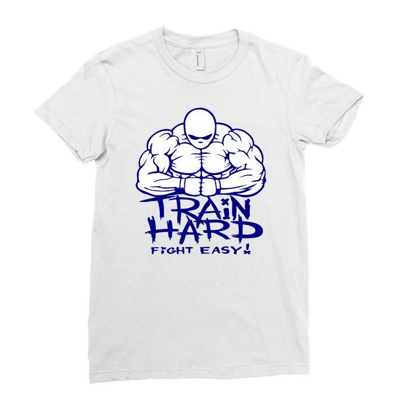6f1d26d73f659 Custom Train Hard Fight Easy Ladies Fitted T-shirt By Marla_arts ...