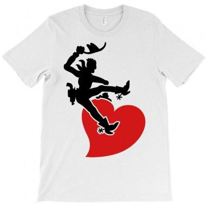 Cowboy Riding A Wild Heart T-shirt Designed By Marla_arts