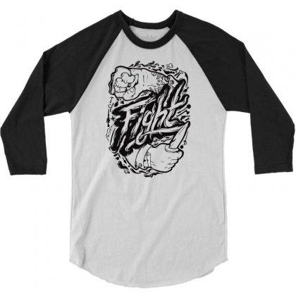 Fight Spirit 3/4 Sleeve Shirt Designed By Marla_arts
