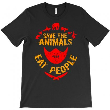 Save The Animals Eat People T-shirt Designed By Marla_arts