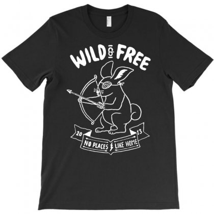 Wild And Free T-shirt Designed By Marla_arts