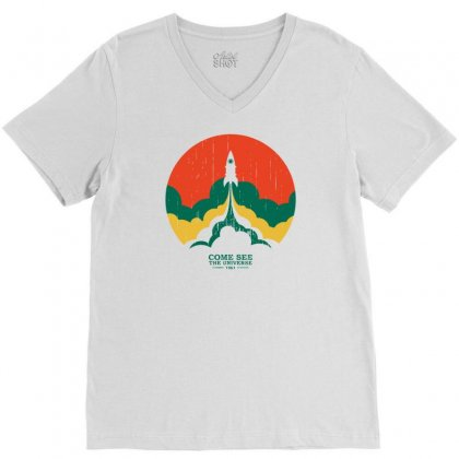 Up And Beyond V-neck Tee Designed By Marla_arts