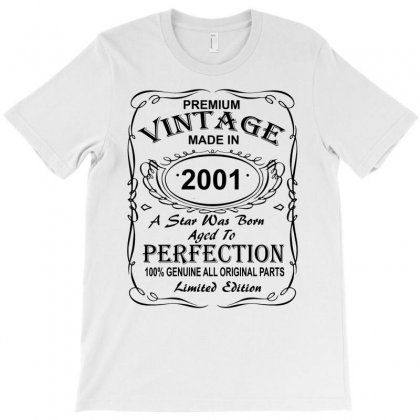 Birthday Gift Ideas For Men And Women Was Born 2001 T-shirt Designed By Killakam