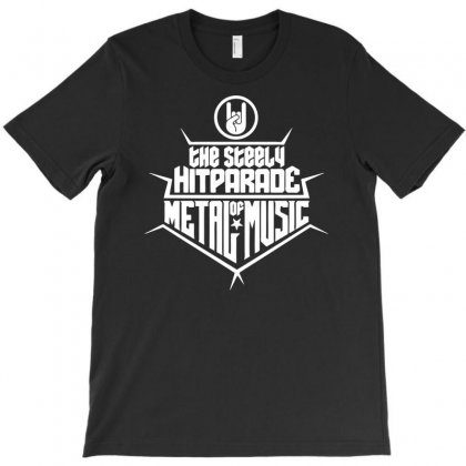 The Steely Hitparade Of Metal Music T-shirt Designed By Marla_arts