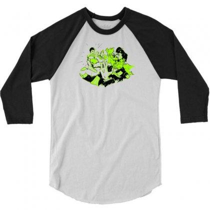 Art Attack 3/4 Sleeve Shirt Designed By Marla_arts