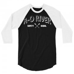 a o river 3/4 Sleeve Shirt | Artistshot