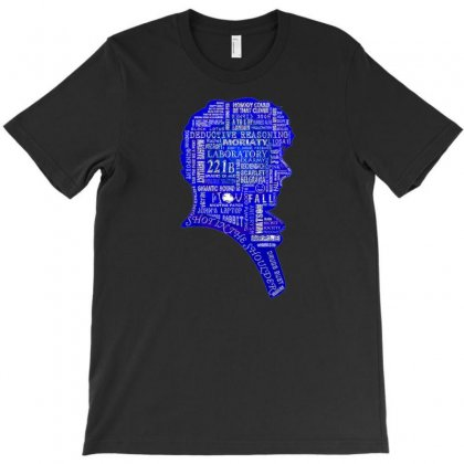 Sherlock Blue Typography T-shirt Designed By Cokroksatiastu