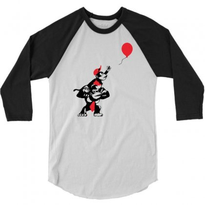 Balloon Apes 3/4 Sleeve Shirt Designed By Marla_arts