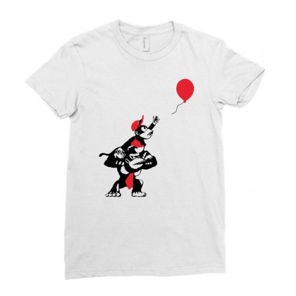 Balloon Apes Ladies Fitted T-shirt Designed By Marla_arts