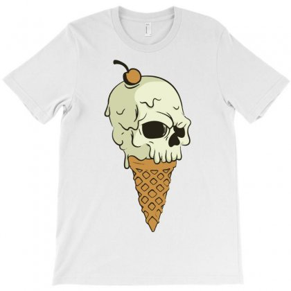 Skull Ice Cream T-shirt Designed By Marla_arts
