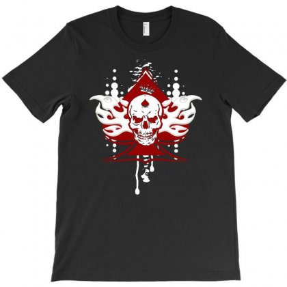 Ace Of Spades Skull T-shirt Designed By Marla_arts