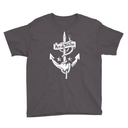 Art Is My Anchor Youth Tee Designed By Marla_arts