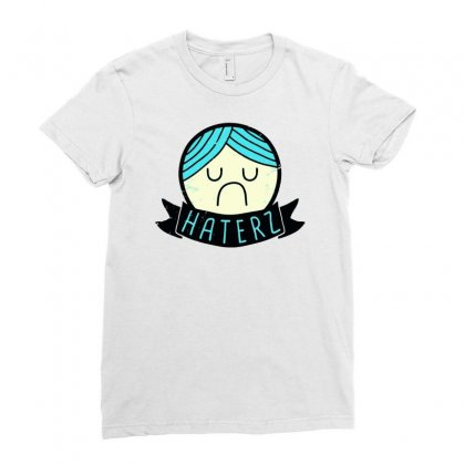 Haterz Gonna Hate Ladies Fitted T-shirt Designed By Marla_arts