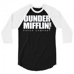 dunder mifflin 3/4 Sleeve Shirt | Artistshot