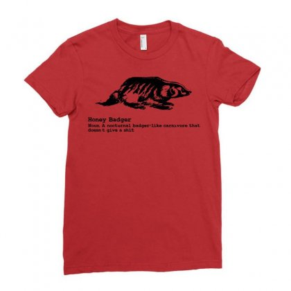 Honey Badger Ladies Fitted T-shirt Designed By Deomatis9888