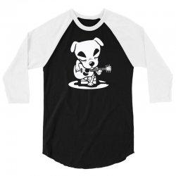 dog plays guitar 3/4 Sleeve Shirt   Artistshot