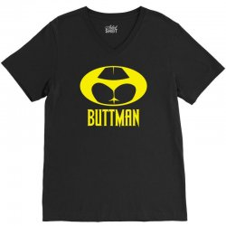 funny batman buttman V-Neck Tee | Artistshot