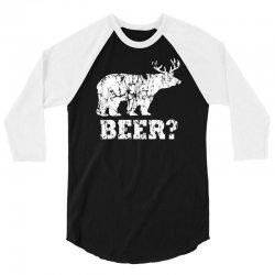 funny beer bear 3/4 Sleeve Shirt | Artistshot