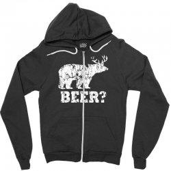 funny beer bear Zipper Hoodie | Artistshot