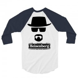 funny heisenberg top hat braking bad 3/4 Sleeve Shirt | Artistshot
