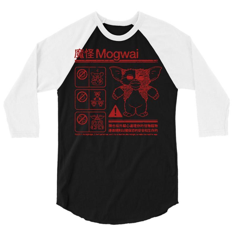 c4aa3cb8 Custom Mogwai Warning 3/4 Sleeve Shirt By Deomatis9888 - Artistshot