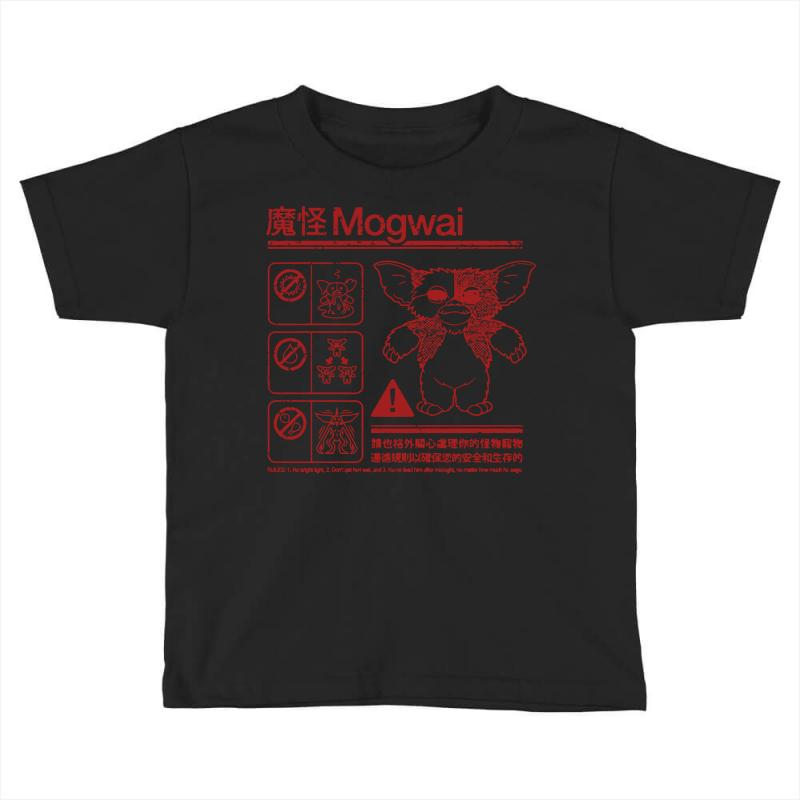 5f4f37f6 Custom Mogwai Warning Toddler T-shirt By Deomatis9888 - Artistshot