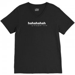 funny laugh V-Neck Tee | Artistshot