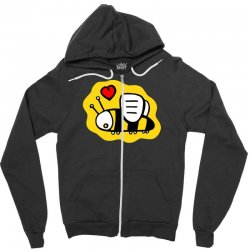 love bee lover valentine Zipper Hoodie | Artistshot