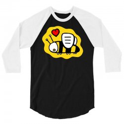 love bee lover valentine 3/4 Sleeve Shirt | Artistshot