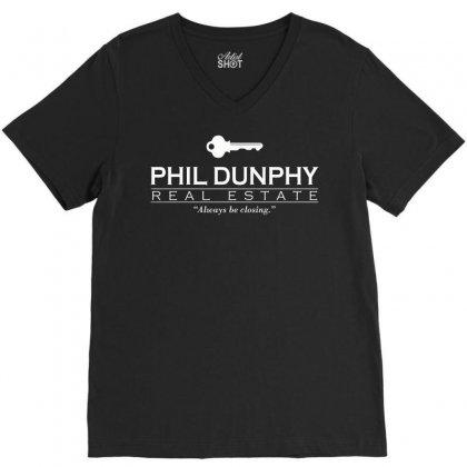 Phil Dunphy Real Estate V-neck Tee Designed By Deomatis9888