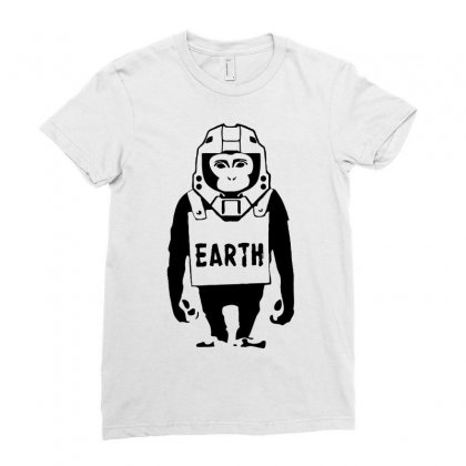 Pop Culture Earth Ladies Fitted T-shirt Designed By Printshirts