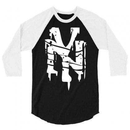 Nyc Riot Graffiti 3/4 Sleeve Shirt Designed By Printshirts