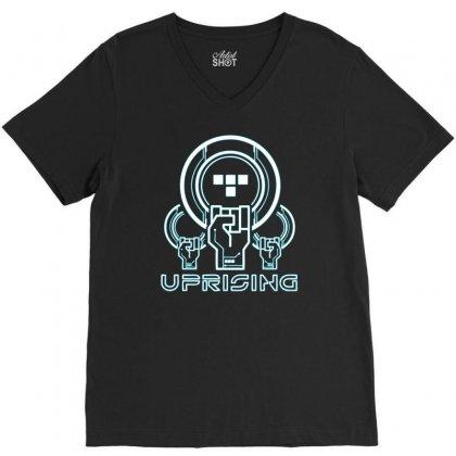 Uprising V-neck Tee Designed By Printshirts