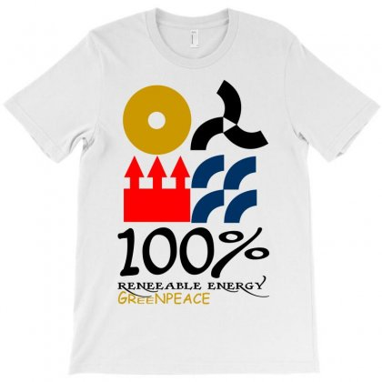 100 Renewable Energy Greenpeace T-shirt Designed By Bapakdanur