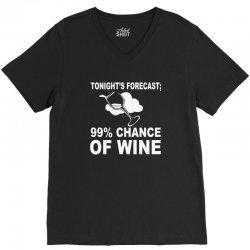 99% chance of wine V-Neck Tee | Artistshot