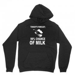 99% chance of milk Unisex Hoodie | Artistshot