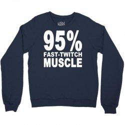 95%persen muscle Crewneck Sweatshirt | Artistshot