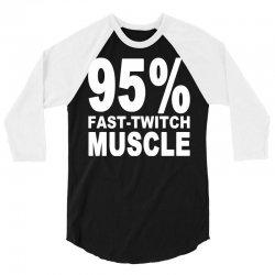 95%persen muscle 3/4 Sleeve Shirt | Artistshot