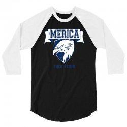 'merica 3/4 Sleeve Shirt | Artistshot