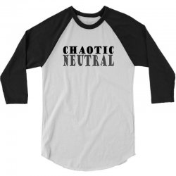 chaotic neutral geek 3/4 Sleeve Shirt | Artistshot
