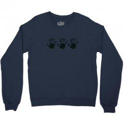 555 handprint Crewneck Sweatshirt | Artistshot