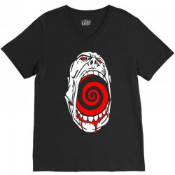 screaming face V-Neck Tee | Artistshot