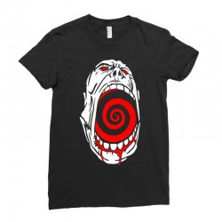 screaming face Ladies Fitted T-Shirt | Artistshot