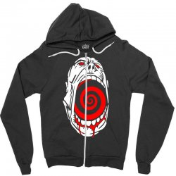 screaming face Zipper Hoodie | Artistshot
