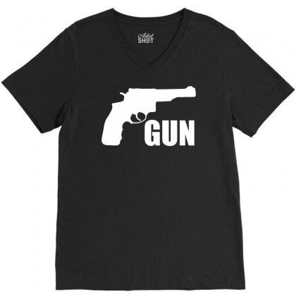 Son Of A Gun V-neck Tee Designed By Printshirts