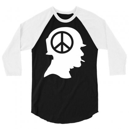 Vietnam Soldier Peace 3/4 Sleeve Shirt Designed By Printshirts