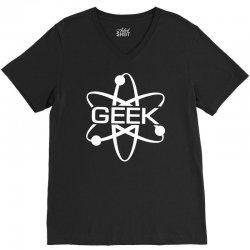 geek atom V-Neck Tee | Artistshot
